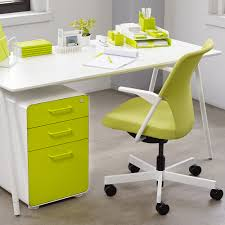 white lime green west 18th 3 drawer file cabinet modern office