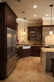 Kitchen Floor Tiles With Dark Cabinets Luxury Brown Tile O