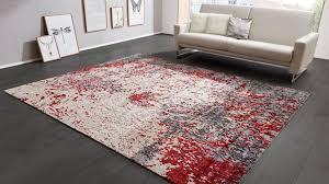 interliving teppich serie e 8320 rot grau gemustert ca 250 x 300 cm