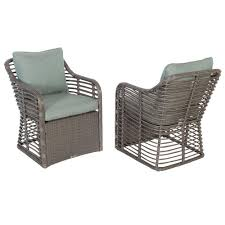 Hampton Bay Cane Crossing All-Weather Wicker Patio Chat Chair - 2 ... Outdoor Lounge Chairs With Cushions Elbrusphoto Porch And Hampton Bay Adjustable Stacking Wicker Chair Ebay Beacon Park Swivel With Patio Home Decor Ideas Editorialinkus Chaise Summer Balcony Fniture How To Repair Rattan Garden White Stores Metal Patio Fniture 2015677100 Appsforarduino Amazoncom Meadows Offwhite Rocking Comfortable And Cozy Appealing For Unique Samt Sessel Big New Wheels Double Tasures
