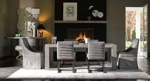 Modern Langston Dining Set Flint W Cooper Chairs Quartz