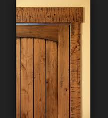 Interior Rustic Wood Door Trim Design