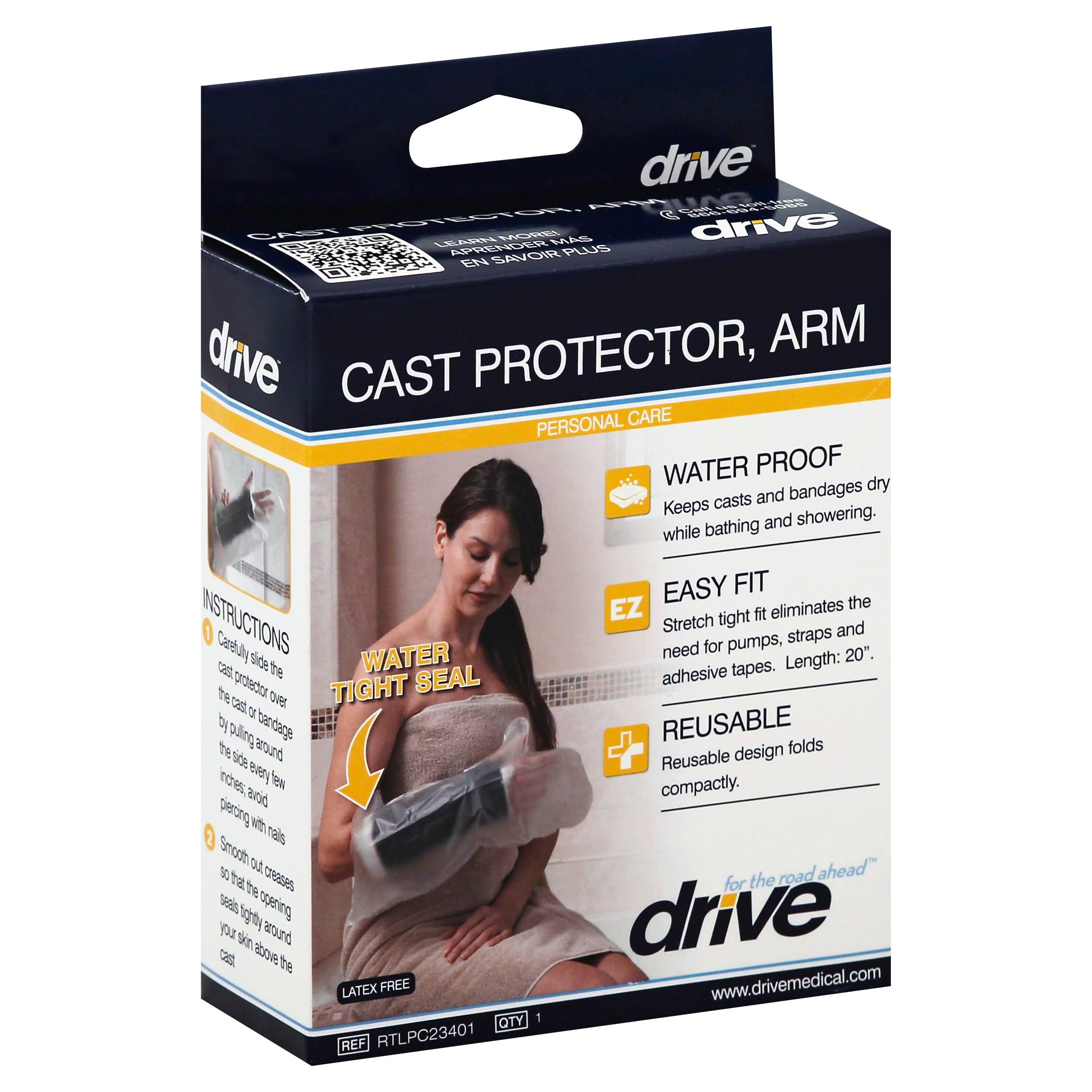 Drive Medical Waterproof Arm Cast Protector - Clear