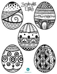 Ready For Easter Zendoodle Egg Coloring Pages