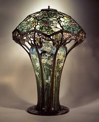 Overstock Tiffany Floor Lamps by Library Lamp C 1900 No 146 Cobweb Design Shade Mosaic Floral