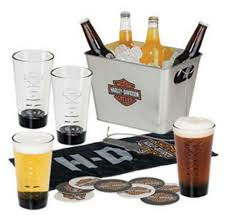 Harley Davidson Bathroom Decor by Harley Davidson Bar U0026 Shield Party Bucket Pint Glasses Gift Set