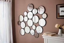 leonique dekospiegel malisa wanddeko bestehend aus 19 runden spiegelementen