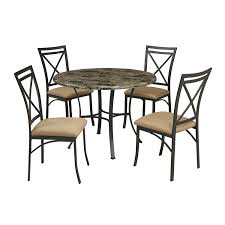 Round Dining Room Set For 4 by Amazon Com Dorel Living Faux Marble Top Dining Table Set Table