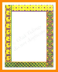 Paper Border Design Decoration Of Chart Designs For 8 Ready