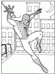 Avengers Spiderman Coloring Pages For Kids Printable Coloring Page
