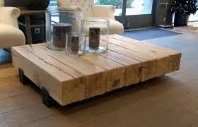 stoere salontafel couchtisch massivholz wohnzimmertische