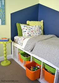 DIY Twin Storage Bed IKEA Hack