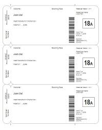 Boarding Pass Invitation Save The Date Template