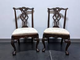 SOLD OUT - HENREDON Rittenhouse Square Mahogany Chippendale Ball In Claw  Dining Side Chairs - Pair 1 Henredon Ding Table W 2 Leaves Loveseat Vintage Mid Century Modern Tables Updated Prodigal Pieces Outstanding Room Fniture Ideas Sold Set 6 Chairs And Oval Table With Leaves Very Good Cdition From Mara Home Of Permanently Closed Mahogany Room Ideas Ralph Lauren Graham Club Armchair Navy Blue Leather And Chairs Overwhelming Campaign Best Ipirations For Decor Viyet Designer Claw Stunning Stamped 8 Walnut