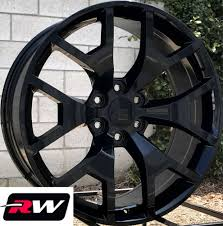 100 20 Inch Truck Rims X9 Inch RW 5656 Wheels For Chevy Gloss Black 6x1397