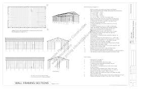 Download Free Sample Pole Barn Plans G322 40 X 72 16 For Horses