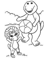 Barney And Baby Bop Coloring Sheet