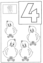 Number 4 Coloring Page Numbers Pages 1 20 Of Animals