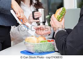 dejeuner bureau déjeuner bureau affaires bureau photographie de stock