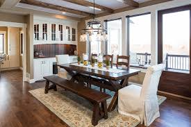 Built In Dining Room Hutch Dining Room Traditional With Natural