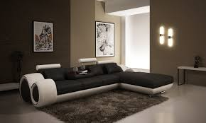 canape d angle avec grande meridienne deco in canape panoramique cuir blanc et orange oslo angle