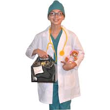 Ceil Blue Scrub Sets by Kids Doctor Costume With Lab Coat Scrub Set Doctor Bag And