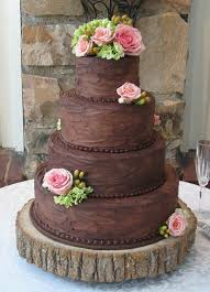Brown Rustic Chocolate Wedding Cake Maybe Instead Of The Flowers Some White Or Green Icing Ornaments
