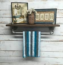 Industrial Bathroom Shelves Shelf Rustic Iron Pipe
