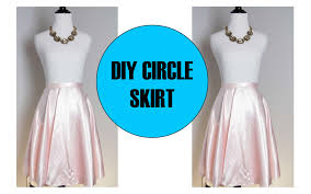 diy circle skirt with zipper sewing project for beginner youtube
