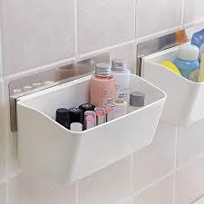 make up veranstalter nahtlose paste aufbewahrungsbox bad zubehör finishing korb schutz der wand geschirr container rack