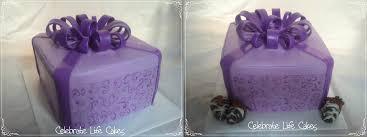 Birthday Cakes  Purple Birthday Present Cake