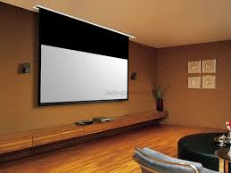 Install Projector Mount Drop Ceiling by 120in Hd White Fabric Ceiling Recessed Motorized Projection Screen