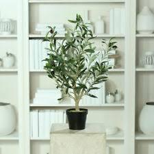 olivenbaum dekoblumen künstliche pflanzen fürs wohnzimmer