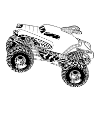 Monster Jam Performers Coloring Pages