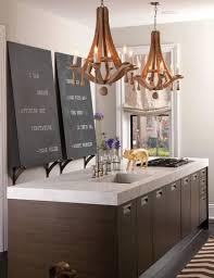 unique wooden kitchen chandelier design for modern kitchen