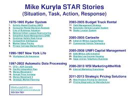 PPT - Mike Kuryla STAR Stories (Situation, Task, Action, Response ...