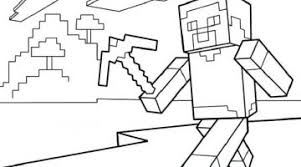 Minecraft Coloring Pages Steve Diamond Armor