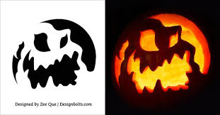 Scariest Pumpkin Carving Patterns by 5 Free Scary Halloween Pumpkin Carving Stencils Printable