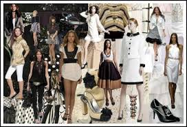 Spring Summer 2008 Black And White Monochrome Fashion Colour Moodboard Trends
