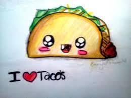 How to draw kawaii food Taco