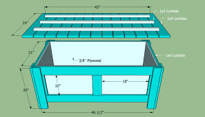 wood storage bench plans free u2013 easy diy idea projects and
