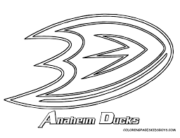 Anaheim Ducks Coloring Pages