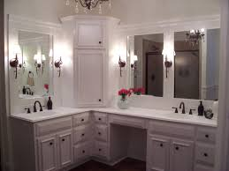 Double Sink Vanity With Dressing Table by Custom Built Makeup Vanity Home Vanity Decoration