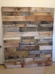 Reclaimed Pallet Queen Size Headboard