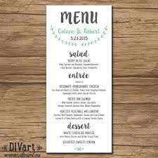Rehearsal Dinner Menu Wording Rustic Wedding
