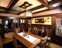 Craftsman Style Dining Table Prestigious 95 Mission Room Chandeliers Lighting