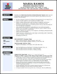 Teachers Resume Template Elementary Teacher Examples Templates Free Download