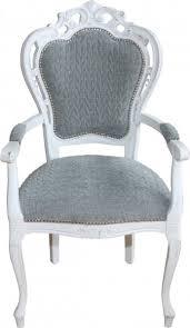 casa padrino barock esszimmer stuhl mit armlehnen grau blau antik weiss designer stuhl luxus qualität