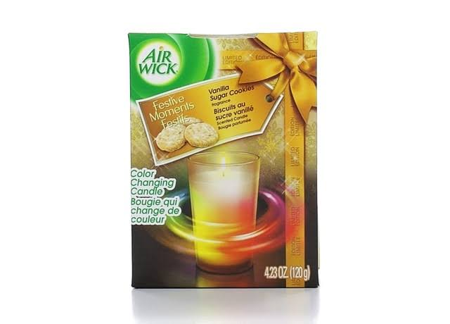 Air Wick Color Changing Scented Candle - Vanilla Indulgence, 4.23oz