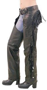 women u0027s leather chaps w rear fringe c766f